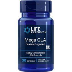 Omega Foundations® Mega GLA z Lignanami Sezamowymi, 30 kaps.