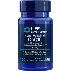 Super Ubiquinol CoQ10 with Enhanced Mitochondrial Support™, 50 mg 100 softgels