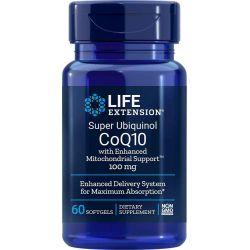 Super Ubichinol Koenzym Q10 ze wzmocnionym wsparciem dla mitochondriów, 100 mg 60 kapsułek