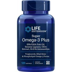 Super Omega-3 Plus EPA/DHA with Sesame Lignans, Olive Extract, Krill & Astaxanthin