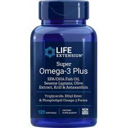 Super Omega-3 Plus EPA/DHA mit Sesamlignanen, Olivenextrakt, Krill & Astaxanthin